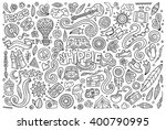 line art vector hand drawn... | Shutterstock .eps vector #400790995