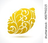 decorative ornamental lemon... | Shutterstock .eps vector #400793215