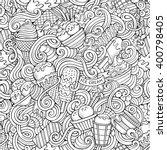 cartoon hand drawn ice cream... | Shutterstock .eps vector #400798405