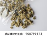 pile of medical cannabis dried... | Shutterstock . vector #400799575