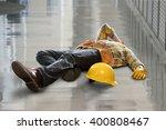 injured construction worker...   Shutterstock . vector #400808467
