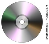Single Disc Cd Dvd Isolated On...