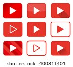 set of play buttons in... | Shutterstock . vector #400811401