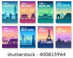 travel information cards.... | Shutterstock .eps vector #400815964