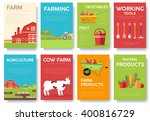 farm information cards set....