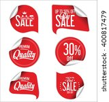 red sale stickers and tags... | Shutterstock .eps vector #400817479