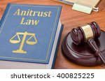 a law book with a gavel  ...   Shutterstock . vector #400825225