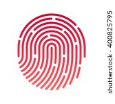 id app icon. fingerprint vector ...