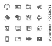 simple set of advertisement... | Shutterstock .eps vector #400826761