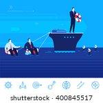flat design vector concept... | Shutterstock .eps vector #400845517