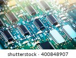 close up of a printed computer... | Shutterstock . vector #400848907