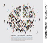 people sign chart  people cover ... | Shutterstock .eps vector #400850797