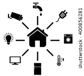 smart home and internet of... | Shutterstock .eps vector #400856281