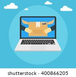 concept of the fast delivery... | Shutterstock .eps vector #400866205