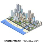 urban three dimensional 3d ...   Shutterstock .eps vector #400867354