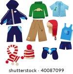 little boy clothes pack | Shutterstock . vector #40087099