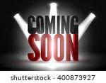 vector scene illuminated... | Shutterstock .eps vector #400873927