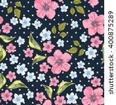 vector seamless floral pattern. ... | Shutterstock .eps vector #400875289