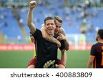 Small photo of ROME, ITALY - APRIL 2016 : SzczÃ??sny celebrate victory at football match serie A League 2015/2016 between SS LAZIO VS AS ROMA at the Olimpic Stadium on APRIL 3, 2016 in Rome.