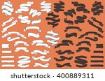 hand drawn vector banners ... | Shutterstock .eps vector #400889311