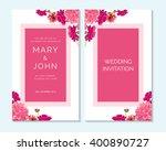 wedding invitation  thank you... | Shutterstock .eps vector #400890727