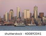 Seattle Skyline At Sunset....