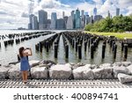 New York Tourist Woman Taking...