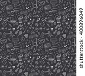 back to school seamless pattern ... | Shutterstock .eps vector #400896049