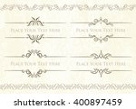 set of 4 decorative vector text ... | Shutterstock .eps vector #400897459