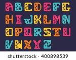 hand drawn alphabet font of... | Shutterstock .eps vector #400898539