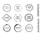 handdrawn logo template... | Shutterstock .eps vector #400899091