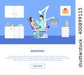 vector dental care concept ... | Shutterstock .eps vector #400899115