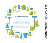 vector trendy flat cleaning... | Shutterstock .eps vector #400899145
