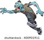running cartoon zombie. vector... | Shutterstock .eps vector #400901911
