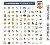 information technology icons  | Shutterstock .eps vector #400902589