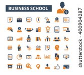 business school icons  | Shutterstock .eps vector #400904287