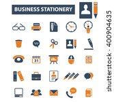 business stationery icons  | Shutterstock .eps vector #400904635