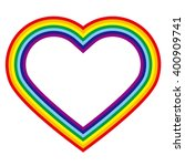 Rainbow Colored Heart Shaped...