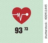 cardio icon design  vector... | Shutterstock .eps vector #400911445