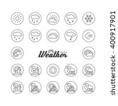 set with icons   weather.  a... | Shutterstock .eps vector #400917901
