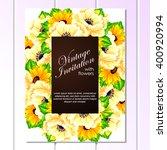 vintage delicate invitation...   Shutterstock . vector #400920994