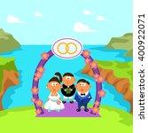 wedding ceremony   Shutterstock .eps vector #400922071
