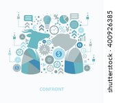 confront concept design on... | Shutterstock .eps vector #400926385