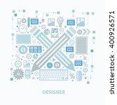 designer concept design on... | Shutterstock .eps vector #400926571