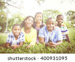 african family happiness... | Shutterstock . vector #400931095