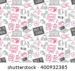 back to school themed doodle... | Shutterstock .eps vector #400932385