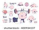 brain stickers fitness... | Shutterstock .eps vector #400934137