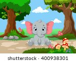 funny elephant with a... | Shutterstock .eps vector #400938301