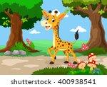 giraffe against a background of ... | Shutterstock .eps vector #400938541