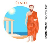 ancient greek scientist ... | Shutterstock .eps vector #400941559